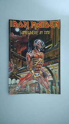 Iron Maiden somewhere in time vintage music postcard POST CARD