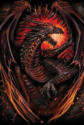 NEW * DRAGON FURNACE * SPIRAL GOTHIC MAXI PYRAMID POSTER 62cm X 91cm    ...no34