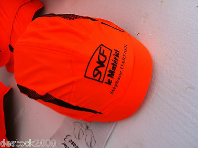 "CASQUE SNCF ORANGE  "" collection  train  """
