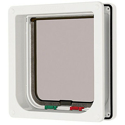 Cat Mate 4-way Locking Cat Flap With Door Liner 50mm - White - SAME DAY DISPATCH