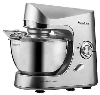 TurboTronic Max 2000W Food Stand Mixer -  5L Stainless Steel Mixing Bowl SILVER