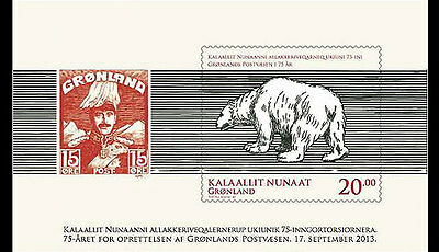 2013 GREENLAND - Post 75th Anniversary - UNMOUNTED MINT M/S SG:MS713