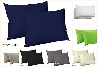 T-300 100% Egyptian Cotton Sateen Pair of Housewife Pillowcases Hotel Quality