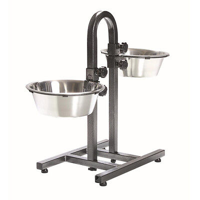 Trixie 2497 Dog Bowl Stand With Separate Height Adjustment 2 x 2.8 L / ø 24 cm