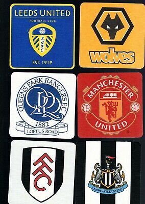 BEER MATS Pack of Official Football Club Crests FREE POSTAGE UK