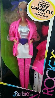 Vintage Mattel Doll Rockers The 80's Barbie New In Box