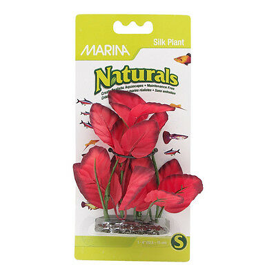 Marina Natural Forecround Silk Plant 12.5 x 15 cm Red - SAME DAY DISPATCH