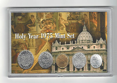 Vatican 1975  HolyYear Mint Set Limited Edition Uncirculated Coin Set