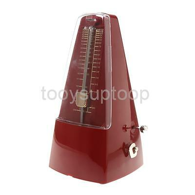Red Universal ABS Mechanical Beat Metronome Guitar Piano Tempo Instruments