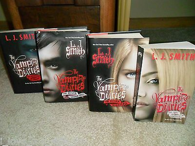 Lot of 4 Books (6 Novels) by L. J. Smith - The Vampire Diaries