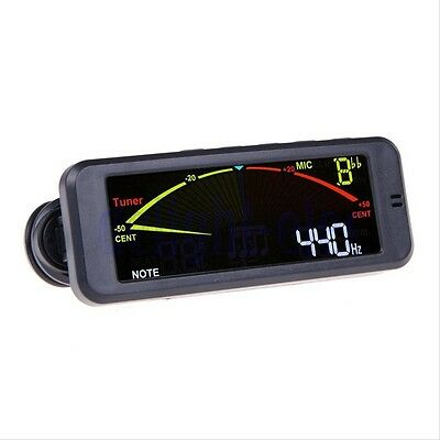 New Chromatic Clip-On LCD Tuner For All String/Wind/Bass instrements Guitar DE
