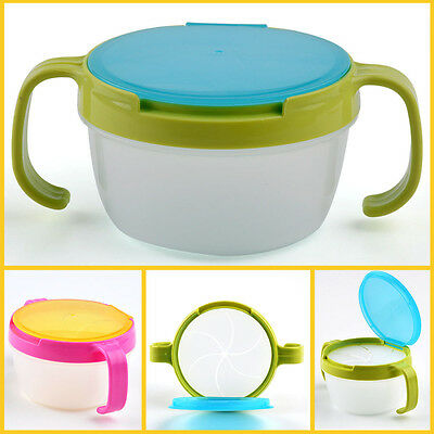 Baby Toddler Kids Snack Food Keeper Anti-Spill Container Cup Drink Lunch Box
