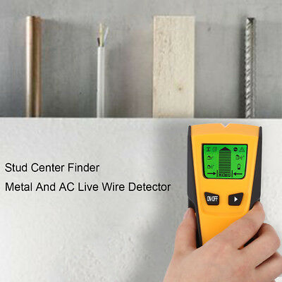 Floureon 3 in 1 LCD Stud Center Finder AC Live Wire Detector Metal Scanner US