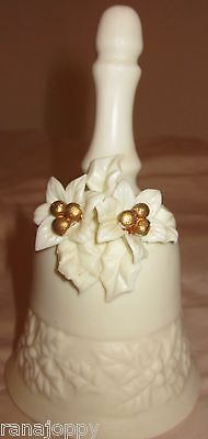 Winter Poinsettia White Bell Collectible