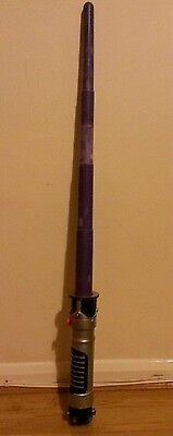 Rare Star Wars Purple Flick/drop Out Mace Windu Toy Hasbro 2002 Lightsaber