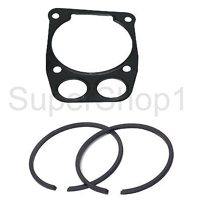 2 x Piston Ring + Gasket Head For Partner Husqvarna K960 K970 1.2mm X 56mm