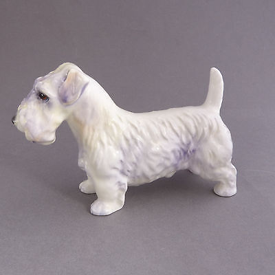 Vintage Dog Figurine  Sealyham Terrier made in England by Royal Adderley