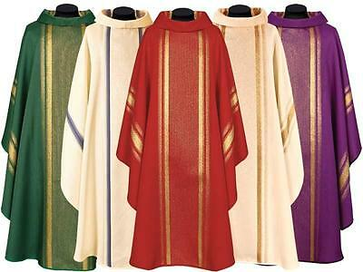 New VARIOUS COLOR CHASUBLE & STOLE, Priest Vestments Catholic #368