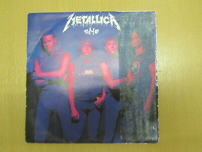 "Metallica One 7"" Uk Promo Ultra Rare Top 100 Item Metdj5 Ex+ Vinyl"