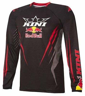 KINI RED BULL maglia JERSEY OFFROAD MX da motocross ENDURO quad SHIRT BLACK nero