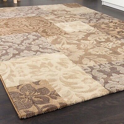 Large Quality Rug Baroque Style Thick Soft Mat Cream Brown Beige Luxury Carpet