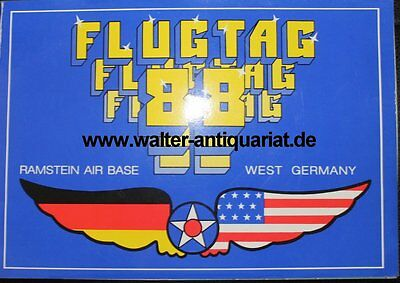 Flugtag 1988 Ramstein Airbase Germany Programm Airforce Luftwaffe program