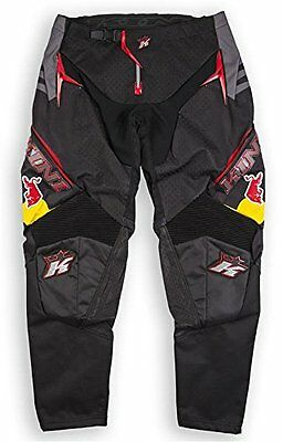 KINI RED BULL Pantaloni MX MTB MOTOCROSS ENDURO QUAD Competition PANTS NERO UOMO