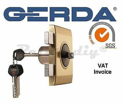 Gerda High Quality Surface Mounted Door Lock Shop Home Office 4 Keys ZX Plus