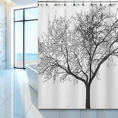 Dozenegg Waterproof Shower Curtain With Tree Design 180 Cm X