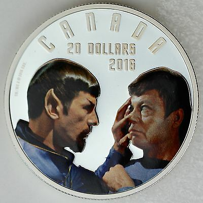 2016 $20 Iconic Star Trek Scenes: Mirror, Mirror, 1 oz  Pure Silver Color Proof