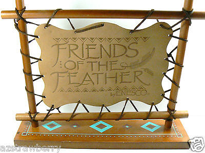Friend of the Feather by Enesco Leather Wood sign Collectible Display