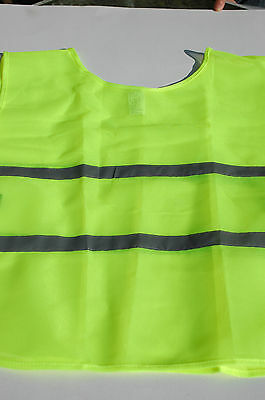 Hi-Vis Fluorescent Running / Cycling  Mesh Tabard with Two Reflective Stripes