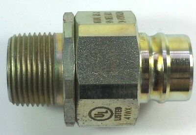 Parker Snap-Tite B736-3 1MPT Steel Valved 25MAWP male coupler