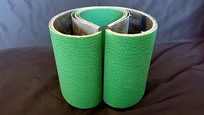 "Sanding Belts 6"" X 48"" Hd Zirconia+ 80 Grit Usa Qty: 5"