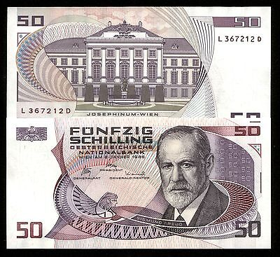 WORLD's ONLY BANKNOTE w SIGMUND FREUD FATHER OF PSYCHOLOGY! SUPER CHOICE & CRISP