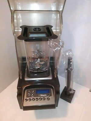 VITAMIX ADVANCE TOUCH N GO BLENDING STATION  W/NEW 50oz CONTAINER + HOOD+TAMPER