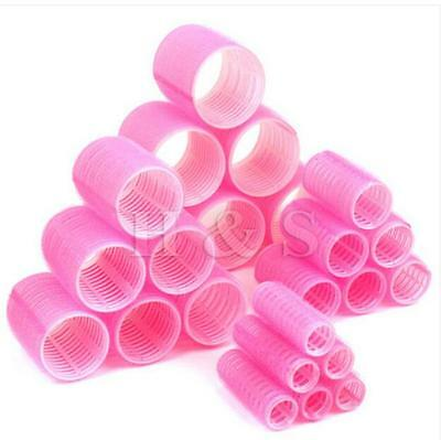 Free shipping 2 Plastic Hair Rollers Curlers Pink Jumbo Hair Curler