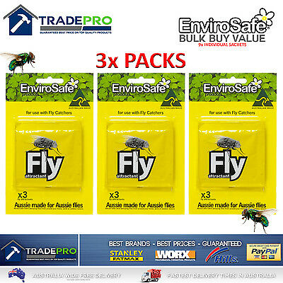 9x Envirosafe® Fly Attractant Refill Sachets for Fly & Wasp Trap Station 3x3PACK