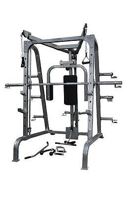Brand New Brawn Strength Smith Machine W/ Cable Crossover & Weight Plate Storage