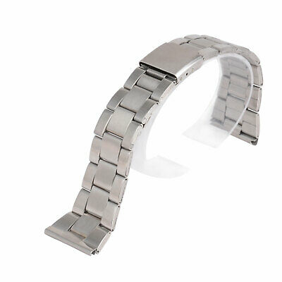 Stainless Steel Metal Straight End Watch Band Strap Replacement Bracelet 12-24mm
