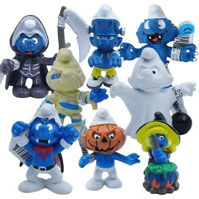 Halloween Smurfs toy costume characters figure figurine lot of 8pcs UK #01A