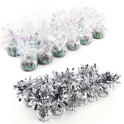 12 Helium Balloon Colour Foil Weights Wedding/Birthday Party Decoration Balloons