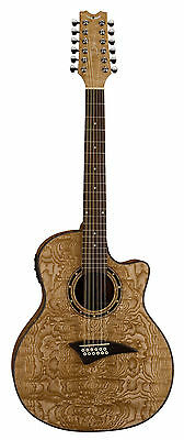 Dean EQA12 GN Exotica quilt ash gloss 12 string acoustic electric guitar