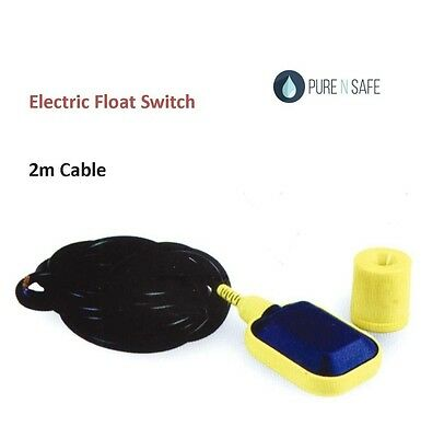 Water Liquid Fluid Level Controller Float Switch with 2 meter cable