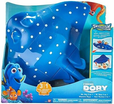 NEW Finding Dory Mr Ray 3 in 1 Playset from Mr Toys Toyworld
