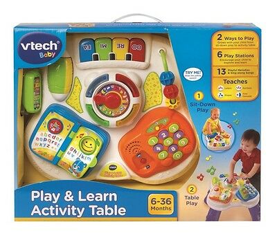 NEW Vtech Baby Play & Learn Activity Table from Mr Toys Toyworld