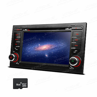 """7"""" Touch Screen GPS Navigation Car Stereo DVD Radio Player BT for Audi A4 S4 RS4"""