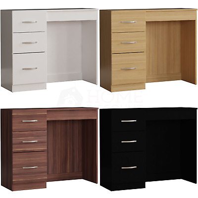 Riano 3 Drawer Dressing Table Makeup Computer Desk Bedroom Furniture