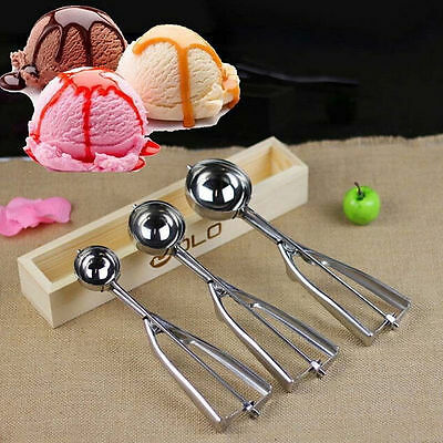 4/5/6cm Cookie Dough Craft Spoon Muffin Stainless Steel Ice Cream Mash Scoop Hot