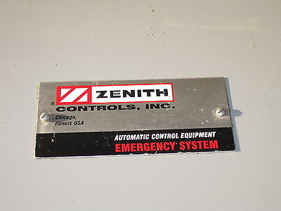 Zenith Cls Ztsdh15-7 Automatic Transfer Switch 150/225/260 Amp 240/277/480 ? 3Ph